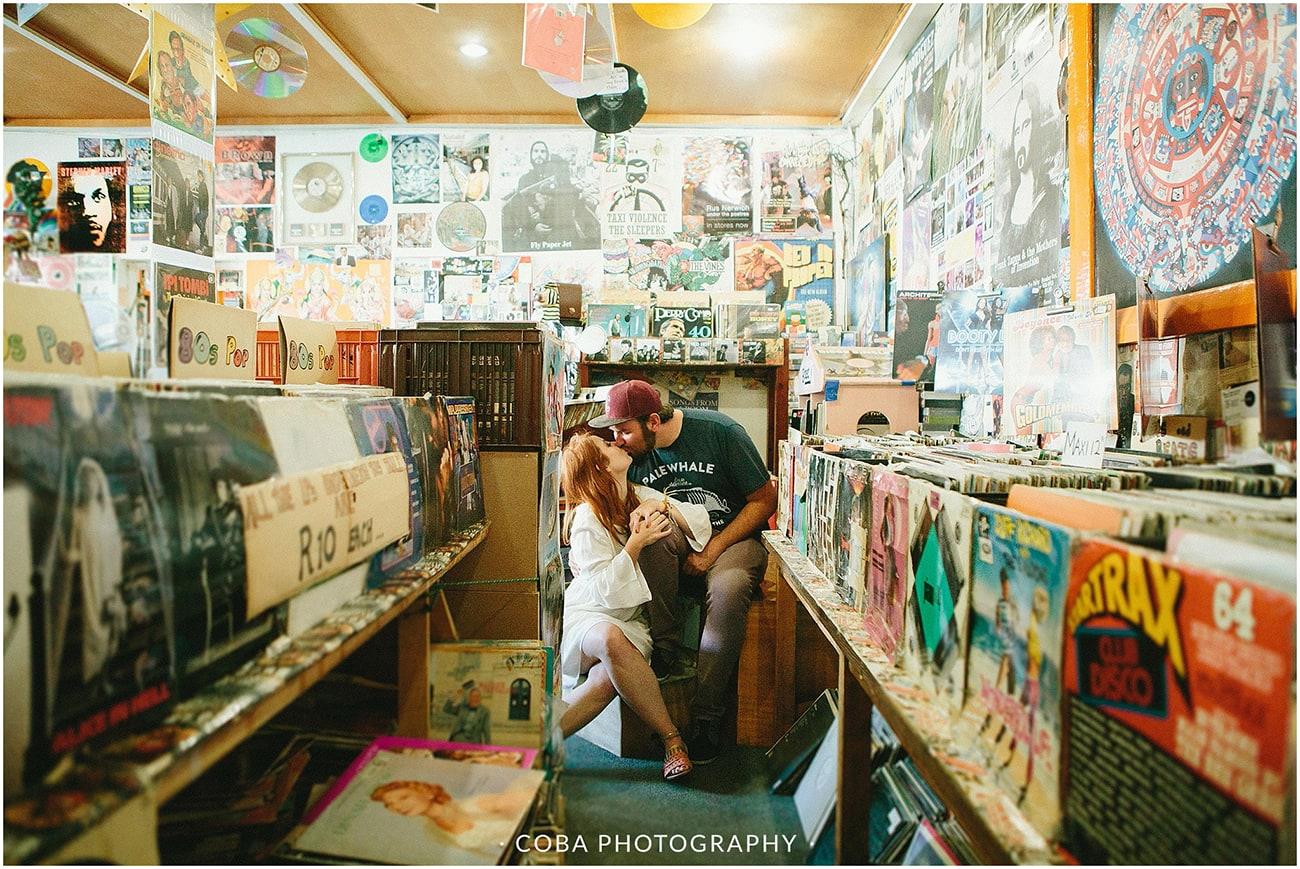 conrad & mareli - vinyl store engagement - coba photography (1)